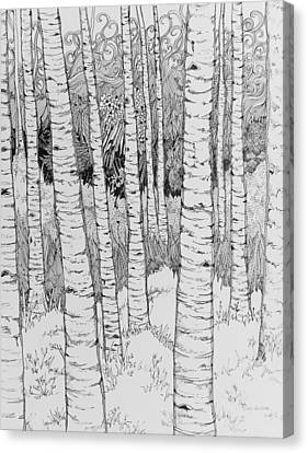 Aspen Forest Canvas Print by Terry Holliday