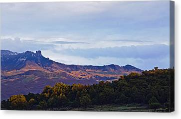 Canvas Print featuring the photograph Aspen Glow Two by Eric Rundle