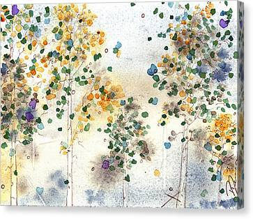 Aspen Grove Canvas Print by Dawn Derman