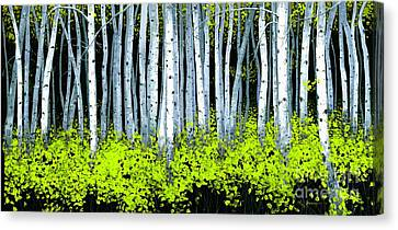 Canvas Print featuring the painting Aspen II by Michael Swanson
