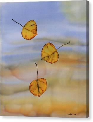 Aspen In Fall Canvas Print by Carolyn Doe