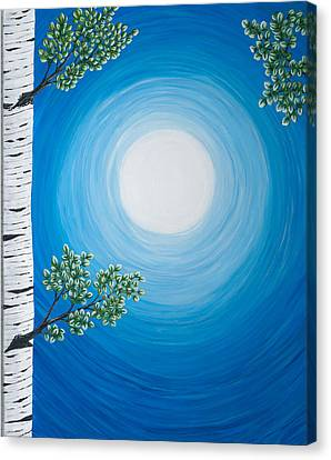 Aspen Moon 2 Triptych Canvas Print by Rebecca Parker