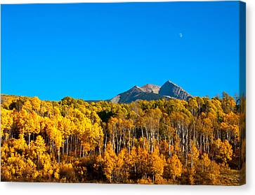 Canvas Print featuring the photograph Aspen Moon by Eric Rundle
