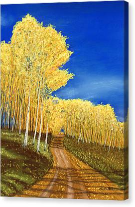 Aspen Road Canvas Print