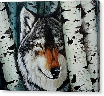 Aspen Wolf Canvas Print by Ruanna Sion Shadd a'Dann'l Yoder