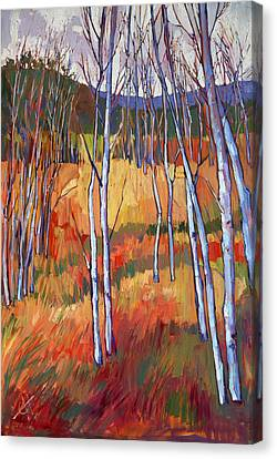 Aspens At Zion Canvas Print by Erin Hanson