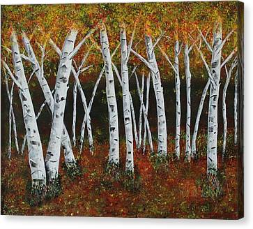Aspens In Fall 1 Canvas Print