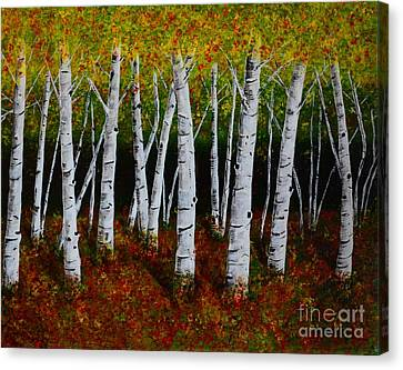 Aspens In Fall 2 Canvas Print