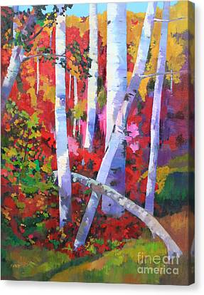 Aspens With Mountain Maples Canvas Print