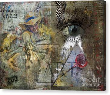 Canvas Print featuring the digital art Asperger's by Nola Lee Kelsey