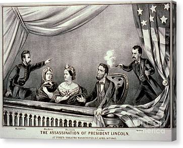 Assassination Of Abraham Lincoln Canvas Print