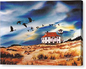 Assateague Coast Guard Station Canvas Print