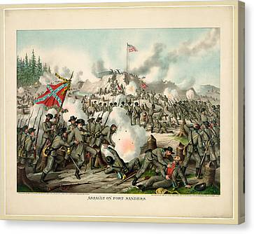 Assault On Fort Sanders Canvas Print