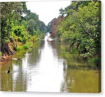 Assawoman Canal - Delaware Canvas Print by Kim Bemis