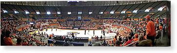 Assembly Hall University Of Illinois Canvas Print by Thomas Woolworth