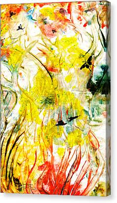 Canvas Print featuring the painting Assiduous by Ron Richard Baviello