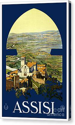 Assisi - Travel Poster For Enit - 1920 Canvas Print
