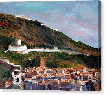 Assisi Hillside Canvas Print by Michael Helfen