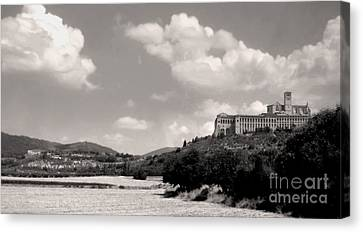 Assisi Italy -  Basilica Of San Francesco D'assisi Canvas Print by Gregory Dyer