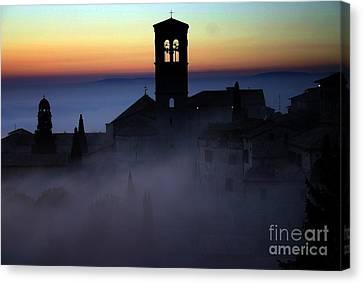 Assisi Steeple Sunset Canvas Print by Henry Kowalski