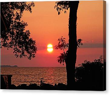 Canvas Print featuring the photograph Association Island Sunset by Aimee L Maher Photography and Art Visit ALMGallerydotcom