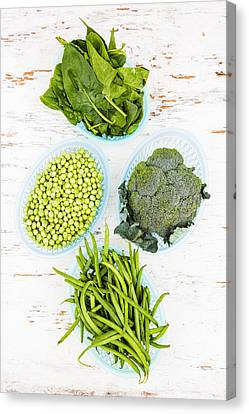 Assorted Green Vegetables Canvas Print