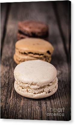 Assorted Macaroons Vintage Canvas Print by Jane Rix