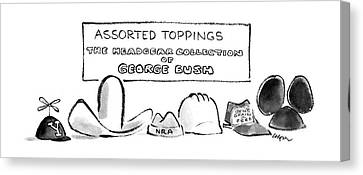 Assorted Toppings The Headgear Collection Canvas Print by Lee Lorenz