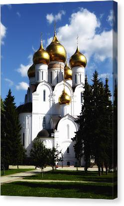 Assumption Cathedral Yaroslavl Russia Canvas Print by Linda Dunn