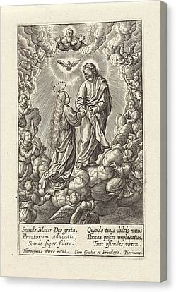 Assumption Of Mary, Hieronymus Wierix, Anonymous Canvas Print by Hieronymus Wierix