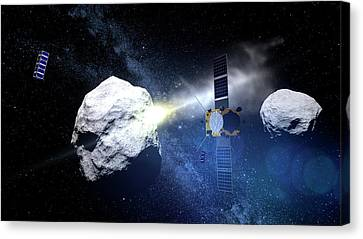 Asteroid Impact Mission Canvas Print by European Space Agency/scienceoffice.org