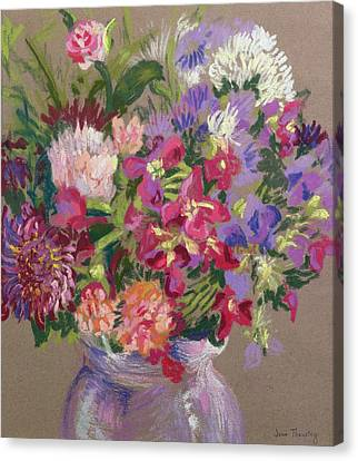 Asters Canvas Print by Joan Thewsey