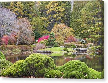 Asticou Azelea Garden - Northeast Harbor - Mount Desert Island - Maine Canvas Print by Keith Webber Jr