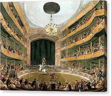 Astleys Ampitheatre, From Ackermanns Canvas Print