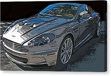 Sheats Canvas Print - Aston Martin Db S Coupe 3/4 Front View by Samuel Sheats