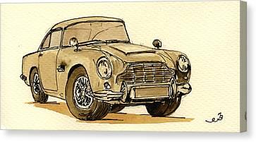 Aston Martin Canvas Print - Aston Martin Db5 by Juan  Bosco