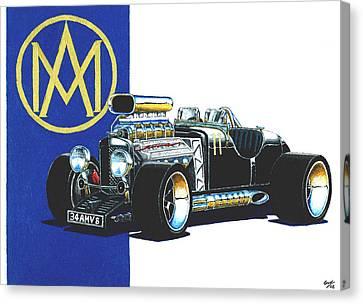 Aston Martin Hot Rod Canvas Print