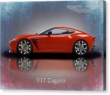 Aston Martin Canvas Print - Aston Martin V12 Zagato by Mark Rogan