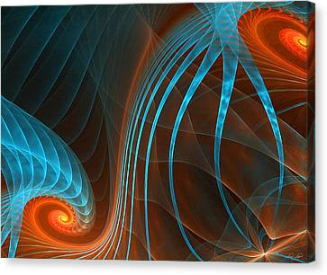 Astonished-fractal Art Canvas Print by Lourry Legarde