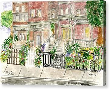 Astor Row In Harlem Canvas Print by AFineLyne