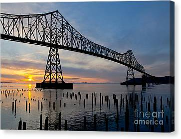 Astoria Bridge Sunset Canvas Print