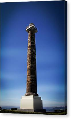Beach Canvas Print featuring the photograph Astoria Column 1926 by Aaron Berg