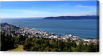 Water Canvas Print featuring the photograph Astoria Oregon by Aaron Berg