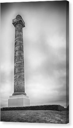 Canvas Print featuring the photograph Astoria The Column by David Millenheft