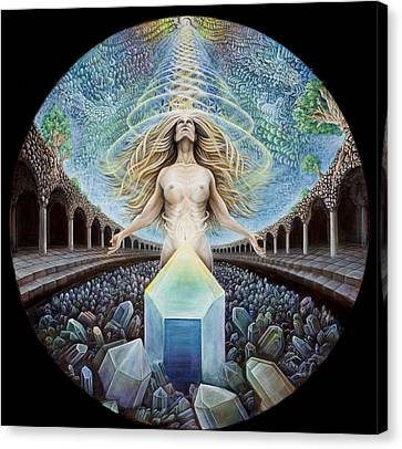 Astral Emergence Canvas Print by Morgan Mandala Manley