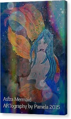 Astral Mermaid Canvas Print