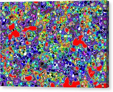 Astratto - Abstract 22 Canvas Print by Ze  Di