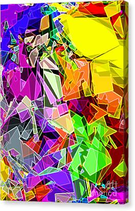 Canvas Print featuring the digital art Astratto - Abstract 51 by Ze  Di