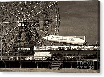Astroland Park Canvas Print
