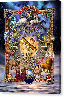 Cancer Canvas Print - Astrology by Ciro Marchetti